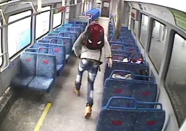 CCTV-Aufnahmen - Fahrgast stoppt Zug - Quelle: YouTube/ Associated Press