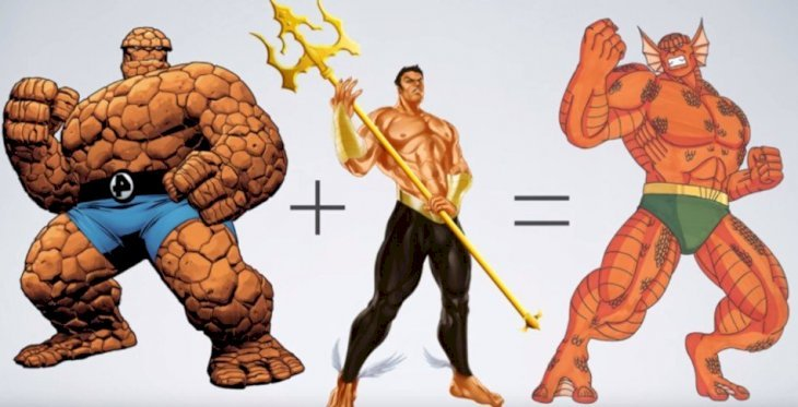 Superheroes Fusion: what would Marvel & DC characters looked