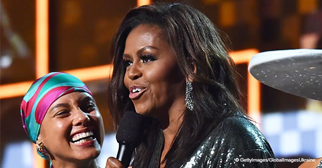 Michelle Obama gets a standing ovation for her unexpected speech at the 2019 Grammy Awards