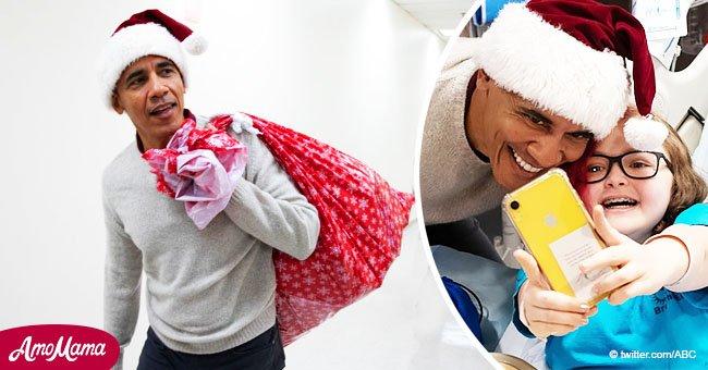 Barack Obama a fait une visite surprise dans un hôpital pour enfants de Washington à la veille de Noël