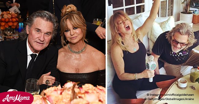Goldie Hawn singing 'I Want To Hold Your Hand' with Kurt Russell in karaoke is cuteness overload