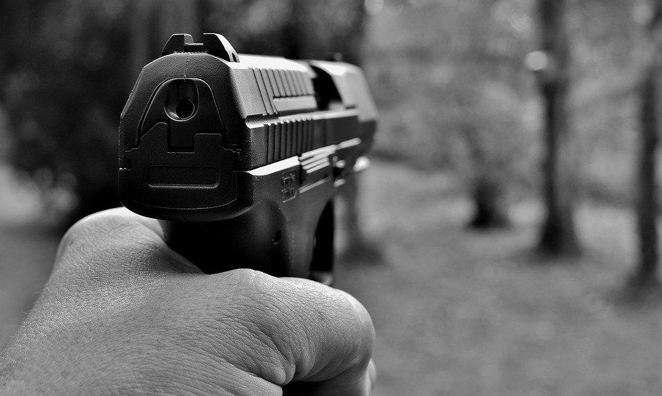 Policía apuntando su arma │ Imagen tomada de: Pixabay