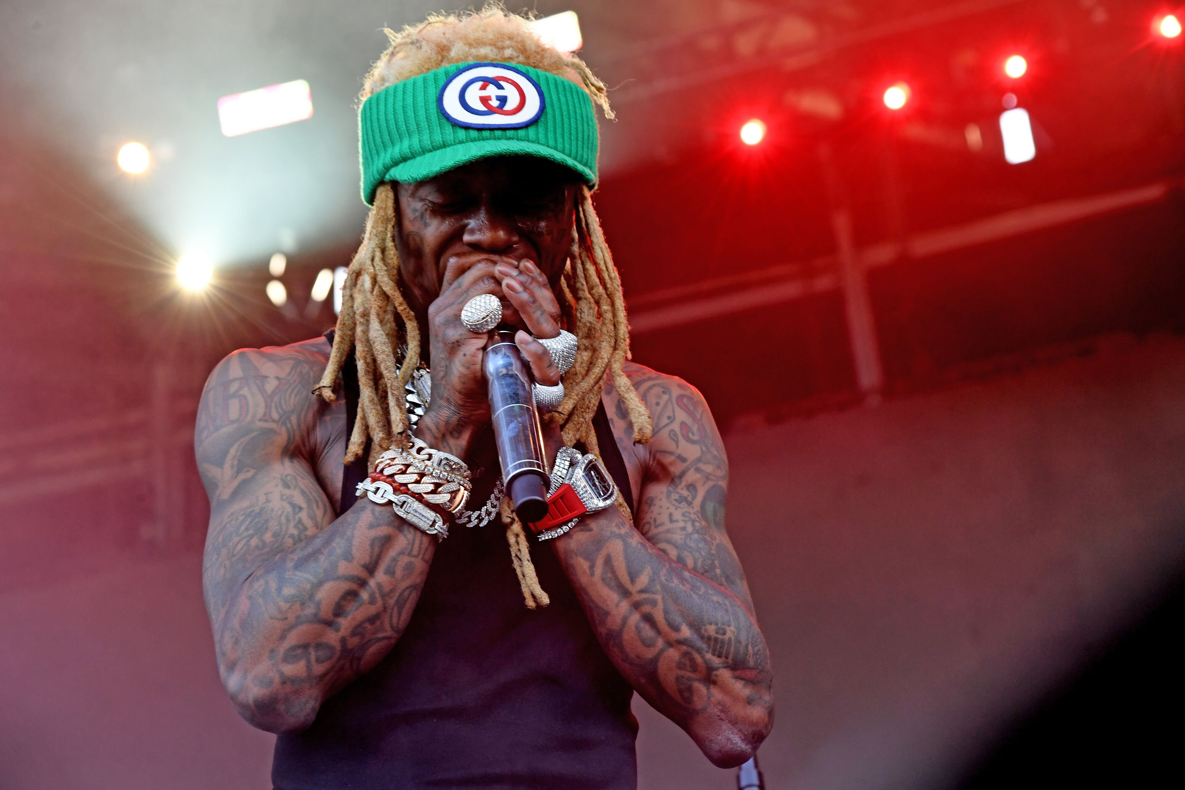 Lil Wayne performing onstage at a concert | Source: Getty Images/GlobalImagesUkraine