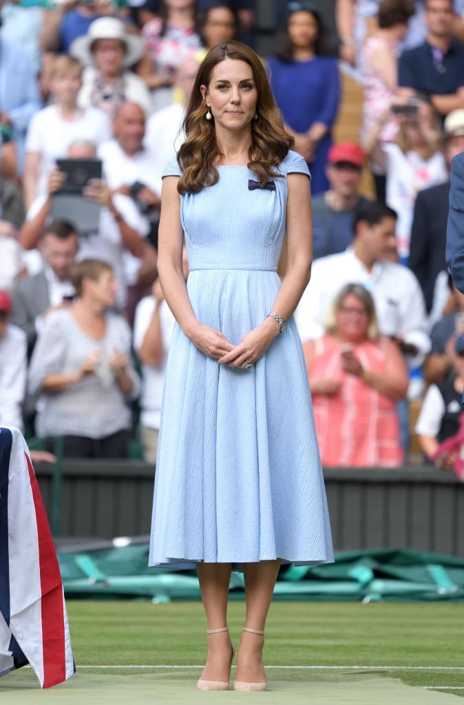 Kate Middleton during Men's Finals Day of the Wimbledon Tennis Championships. | Source: Getty Images