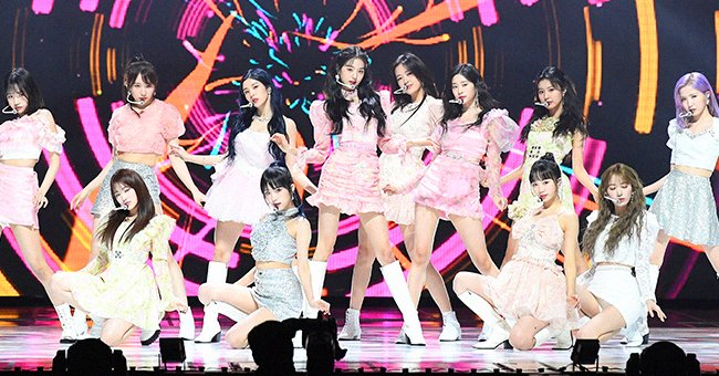 IZ*ONE perform on stage during the 30th High1 Seoul Music Awards, January 2021   Source: Getty Images