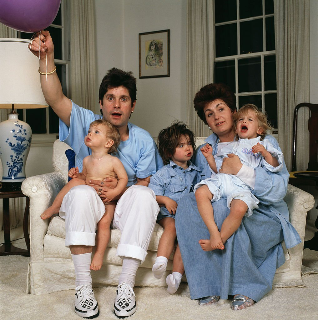 Ozzy Osbourne and his wife Sharon and their children Aimee, Kelly and Jack, USA, 1987 | Getty Images