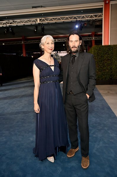 Alexandra Grant (L) and Keanu Reeves attend the 2019 LACMA Art + Film Gala Presented By Gucci at LACMA on November 02, 2019 in Los Angeles, California | Photo: Getty Images