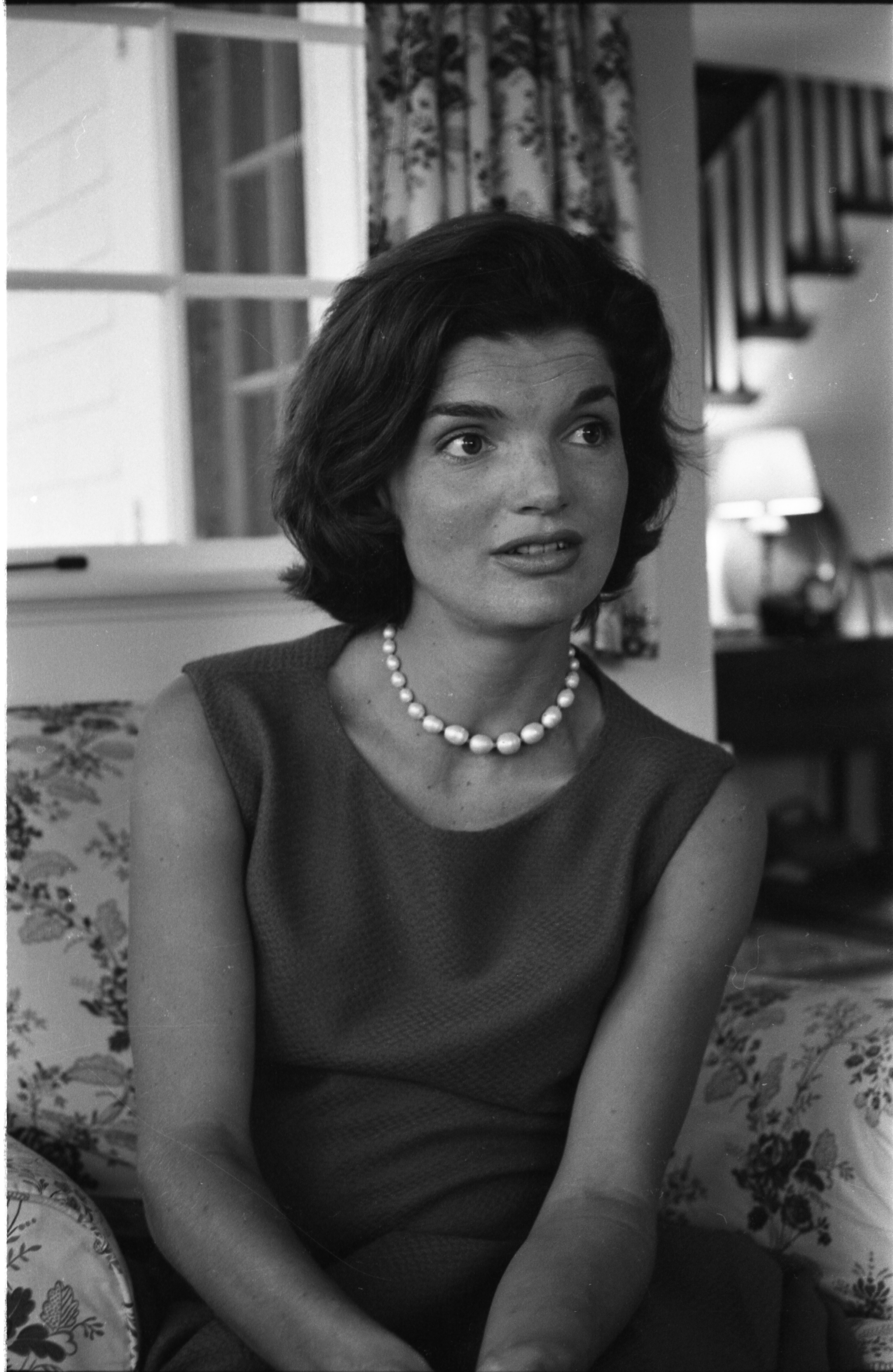 Jacqueline Kennedy sits in her Hyannisport, Massachusetts home in 1960   Photo: Getty Images