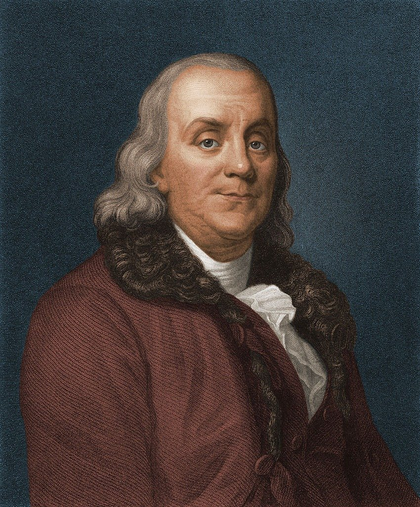 Engraved portrait of American politician, scientist, and philosopher Benjamin Franklin (1706 - 1790).   Photo: Getty Images