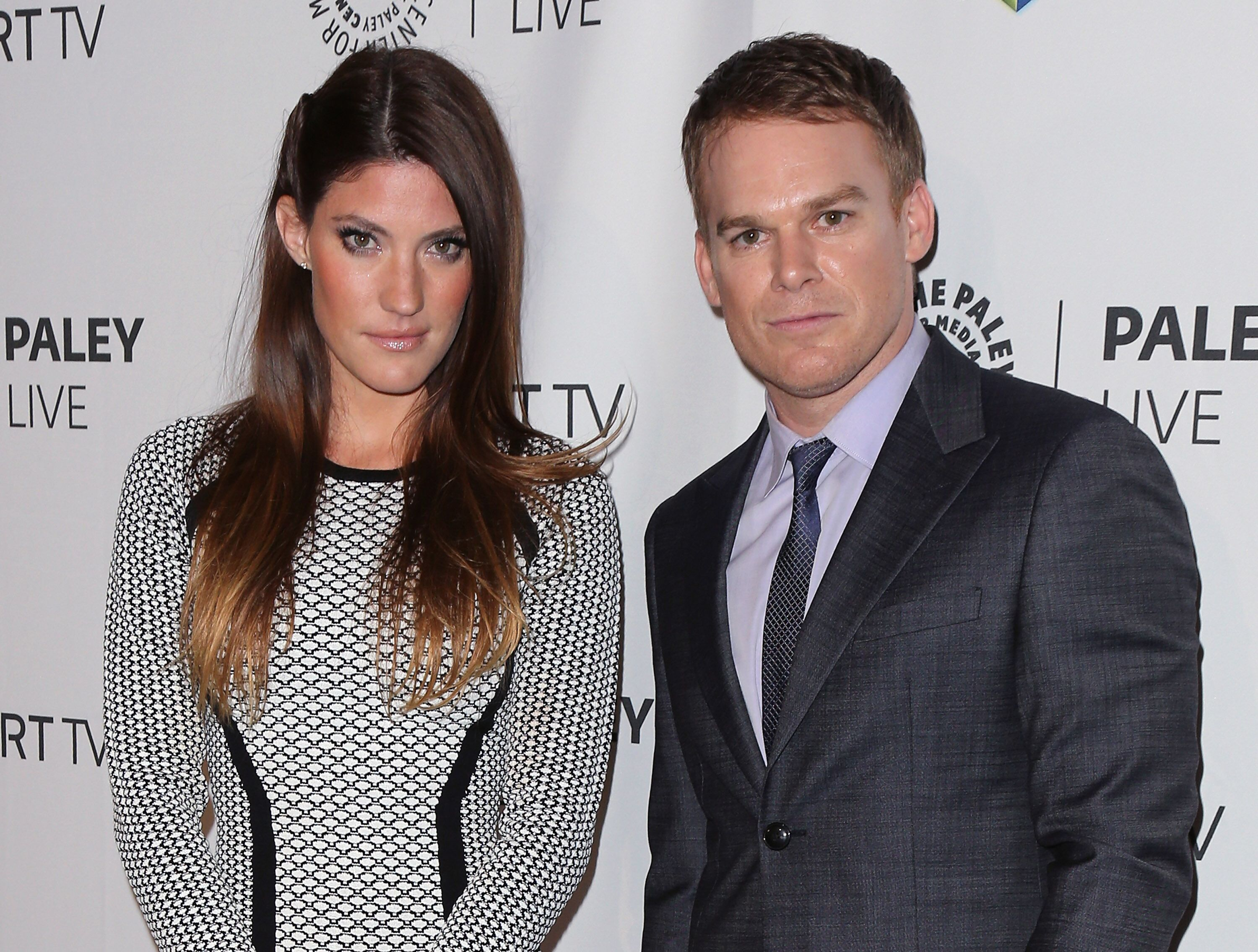 "Jennifer Carpenter (L) and Michael C. Hall attend PaleyFestPreviews: Fall TV - Fall Farewell: ""Dexter"" at The Paley Center for Media on September 12, 2013 in Beverly Hills, California. 