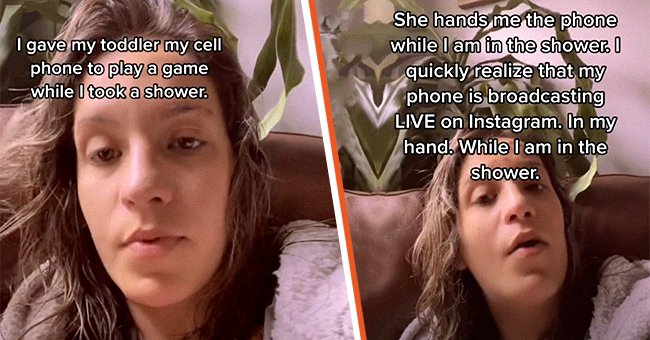 A mother was embarrassed after her daughter walked in on her in the shower and broadcasted her livestream on Instagram.   Photo: tiktok.com/bri.anna89