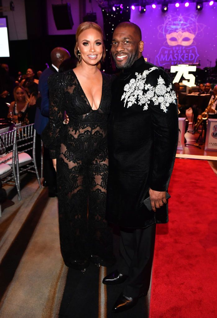 Gizelle and Jamal H. Bryant at the 36th Annual Atlanta UNCF Mayor's Masked Ball in December 2019. | Photo: Getty Images