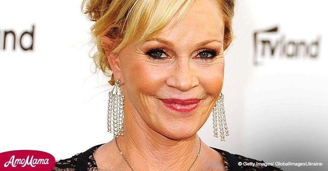 Melanie Griffith shares a sweet snap of her ex-hubby cuddling up to their grown-up daughter