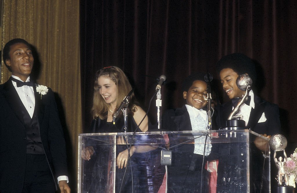 Dana Plato and actors Gary Coleman and Todd Bridges at the 33rd Annual Primetime Emmy Awards on January 27, 1980   Photo: Getty Images