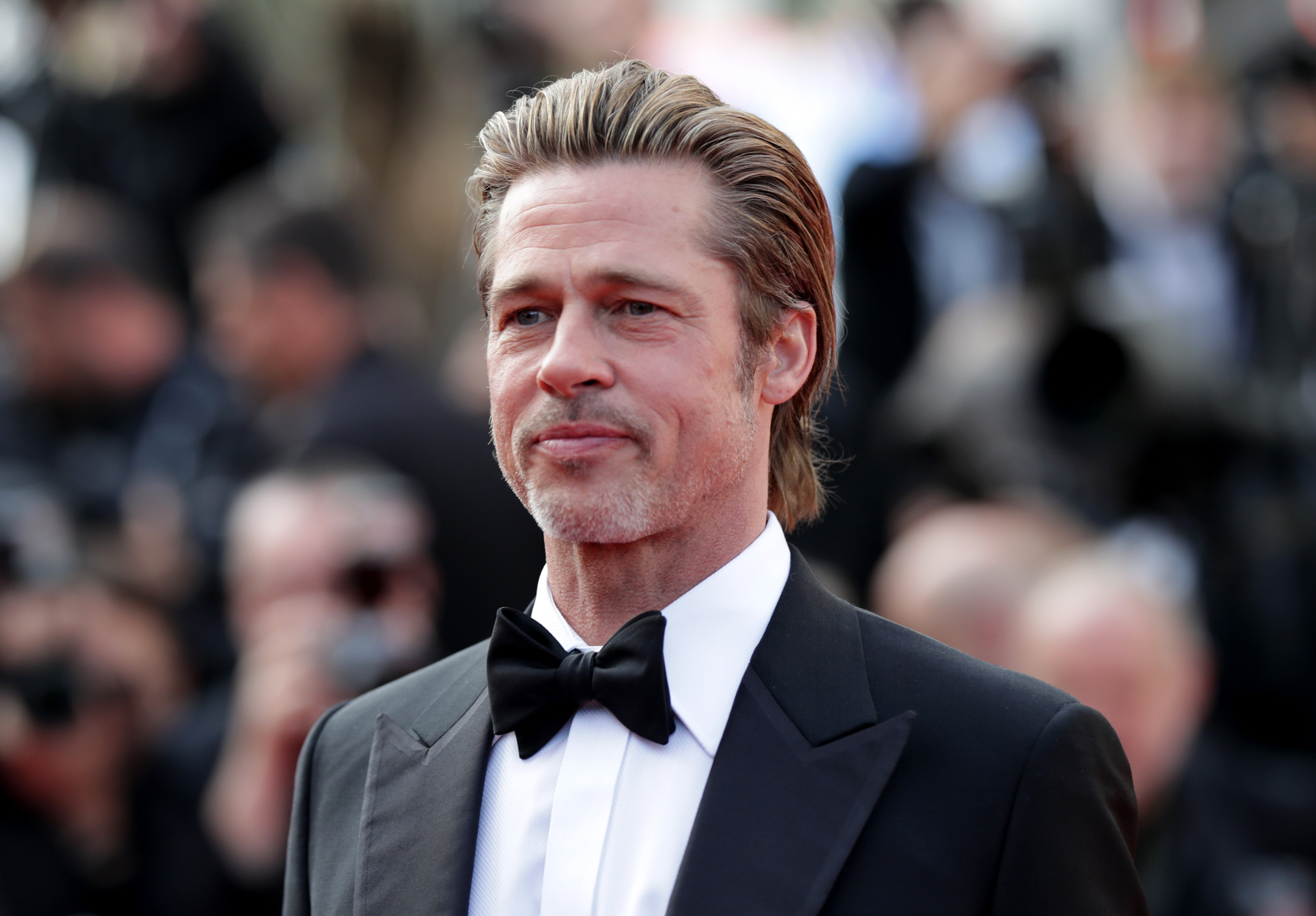 """Brad Pitt attends the screening of """"Once Upon A Time In Hollywood"""" during the 72nd annual Cannes Film Festival on May 21, 2019 