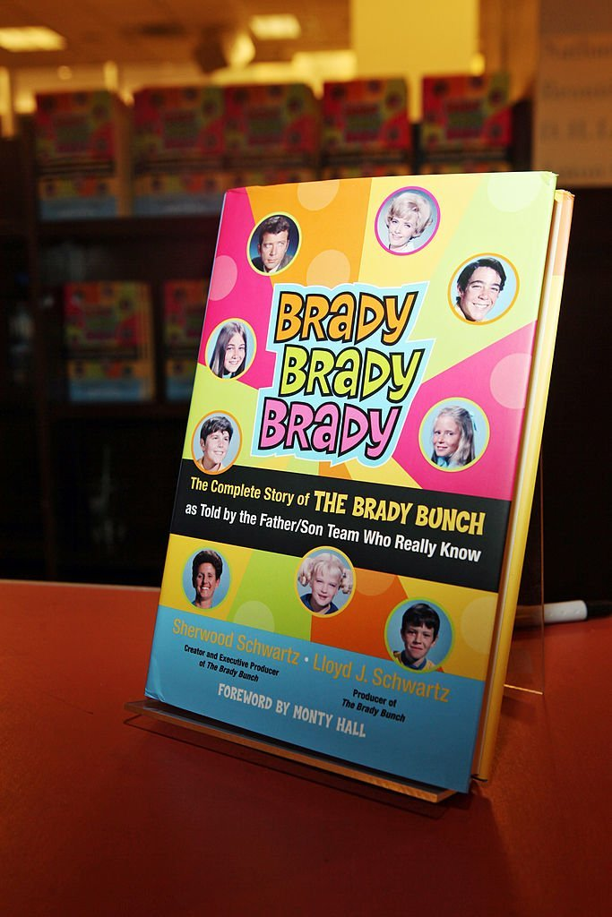 One of the books on display at the book signing for Brady, Brady, Brady: The Complete Story of The Brady Bunch as told by the Father/Son Team Who Really Know | Getty Images