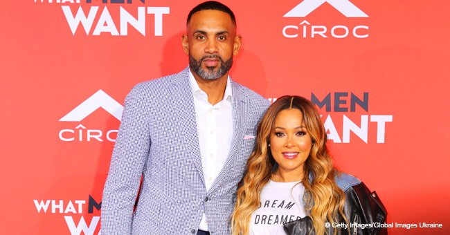 Grant Hill & wife Tamia turn all heads in color-coordinated outfits for rare red carpet appearance