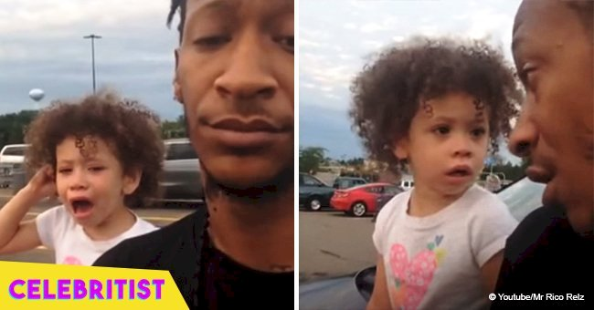 Father brilliantly ends toddler's public tantrum in viral video