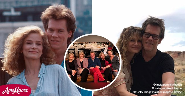 Kevin Bacon's Big Family Look so Happy on a Rare Photo Together