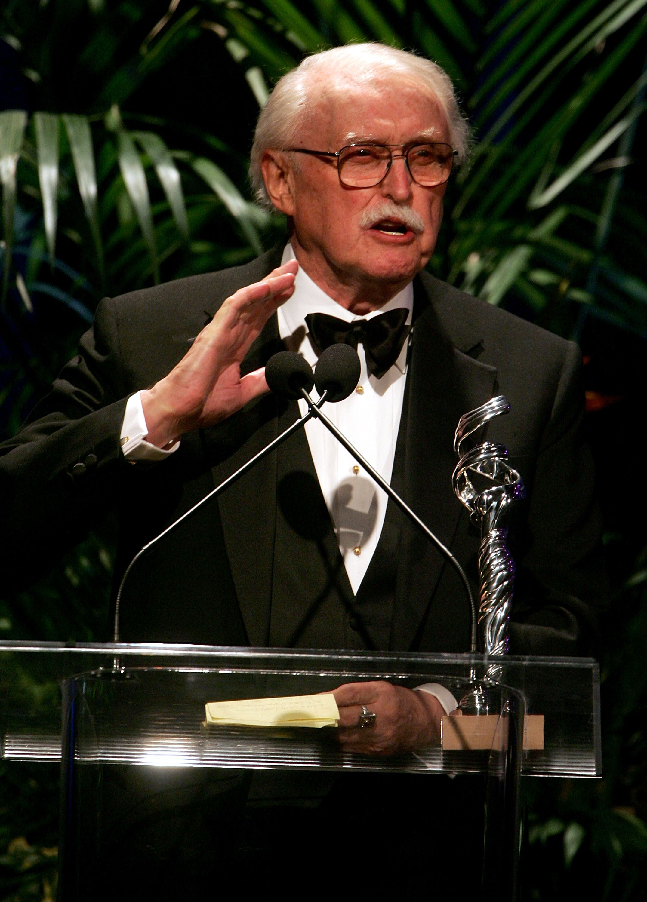 "Robert Fletcher accepts the ""Career Achievment for Television"" onstage at the 7th Annual Costume Designers Guild Awards on February 19, 2005 