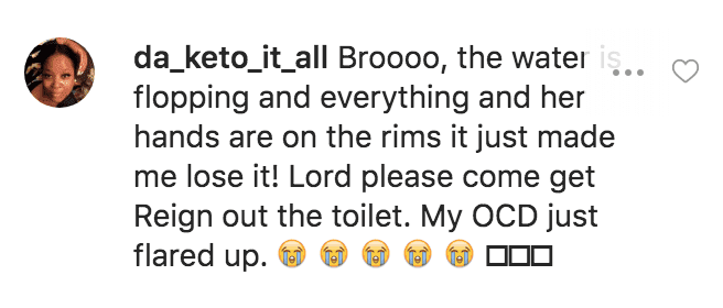 A fans' comment from Toya Wright's post | Instagram/toyawright