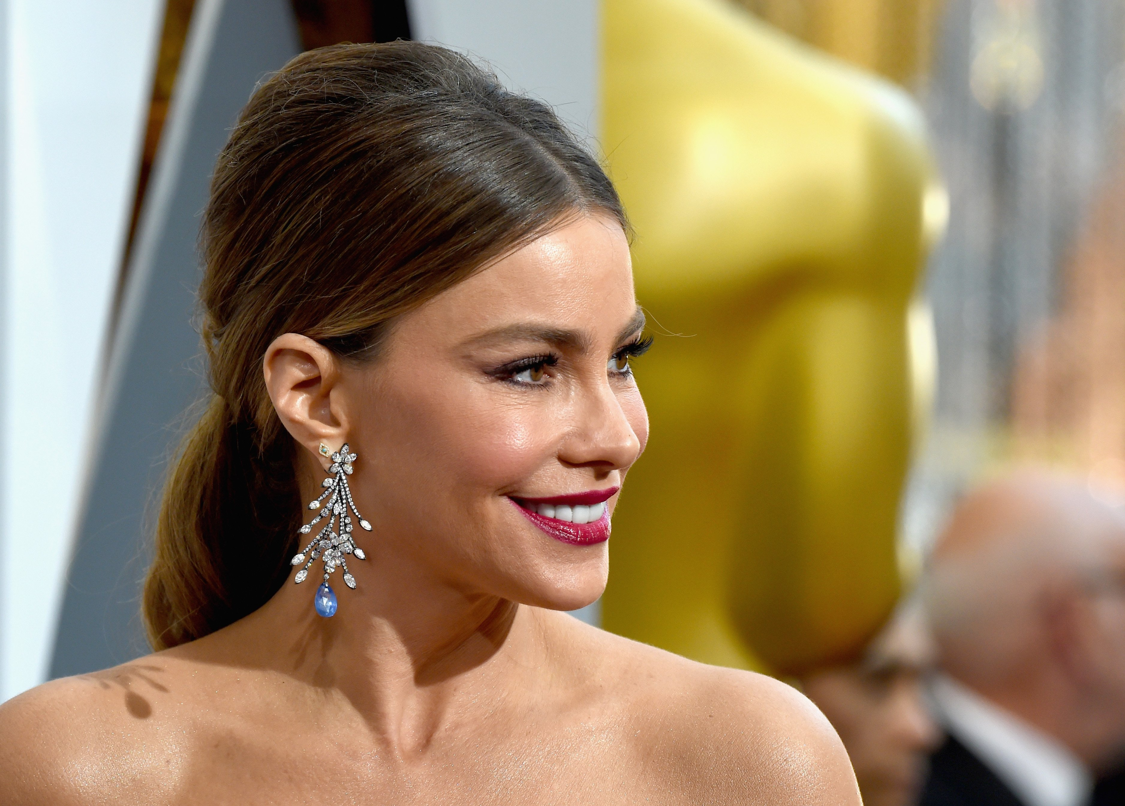 """""""Modern Family"""" star Sofia Vergara, 48, attends the 2016 Academy Awards at Hollywood & Highland Center in California.   Photo: Getty Images"""