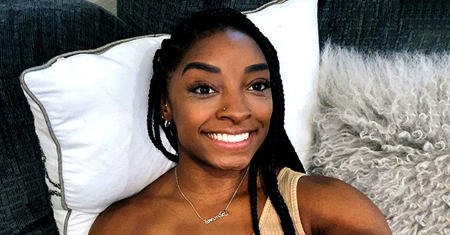 Simone Biles Flashes Her Sweet Smile for a Selfie Dressed in a White Cropped Top