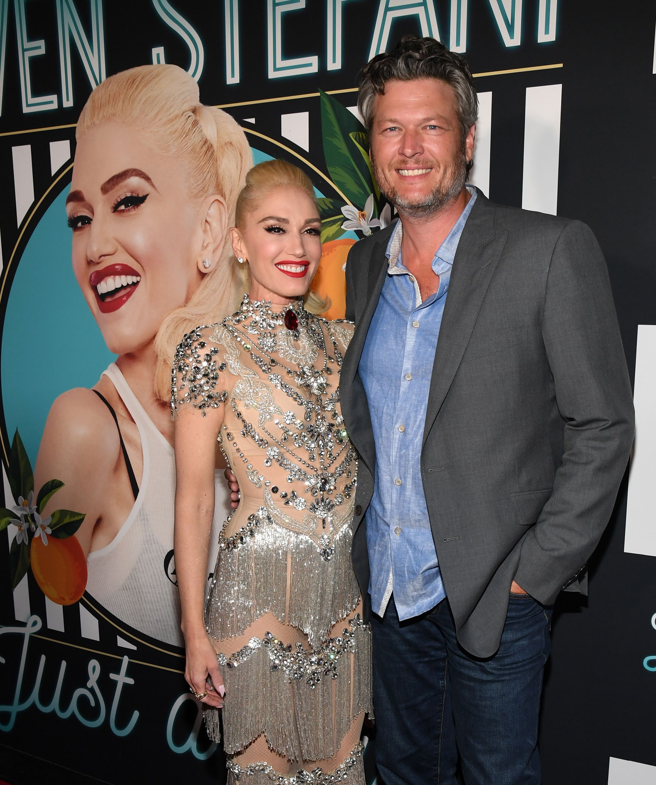 "Gwen Stefani and Blake Shelton at the grand opening of her ""Gwen Stefani - Just a Girl"" residency. 
