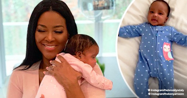 Kenya Moore steals hearts with adorable video of growing baby Brooklyn in blue romper