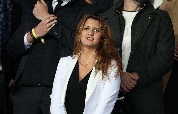 Marlene Schiappa participe à la demi-finale de la Coupe de France au stade du Parc des Princes le 3 avril 2019 | Photo : Getty Images