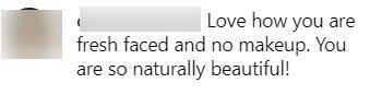 Fan commenting on Carrie Underwood's makeup-free selfie | Photo: Instagram/Carrie Underwood 1