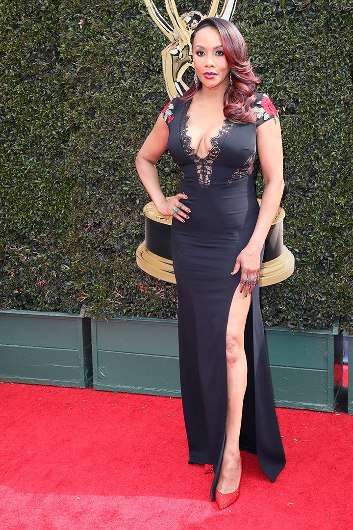 Vivica A. Fox attends the 45th annual Daytime Emmy Awards at Pasadena Civic Auditorium on April 29, 2018 in Pasadena, California. I Photo: Getty Images.