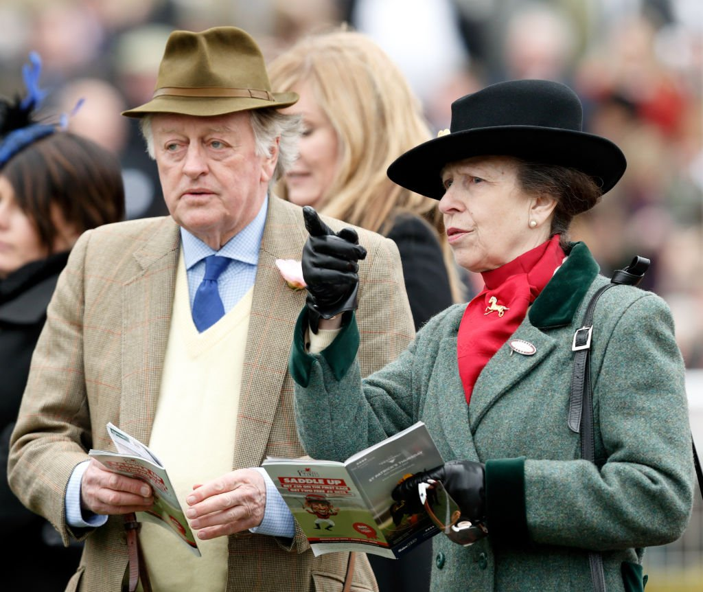 Andrew Parker Bowles and Princess Anne, The Princess Royal attend day 3 of the Cheltenham Festival at Cheltenham Racecourse on March 16, 2017 in Cheltenham, England. | Photo: Getty Images