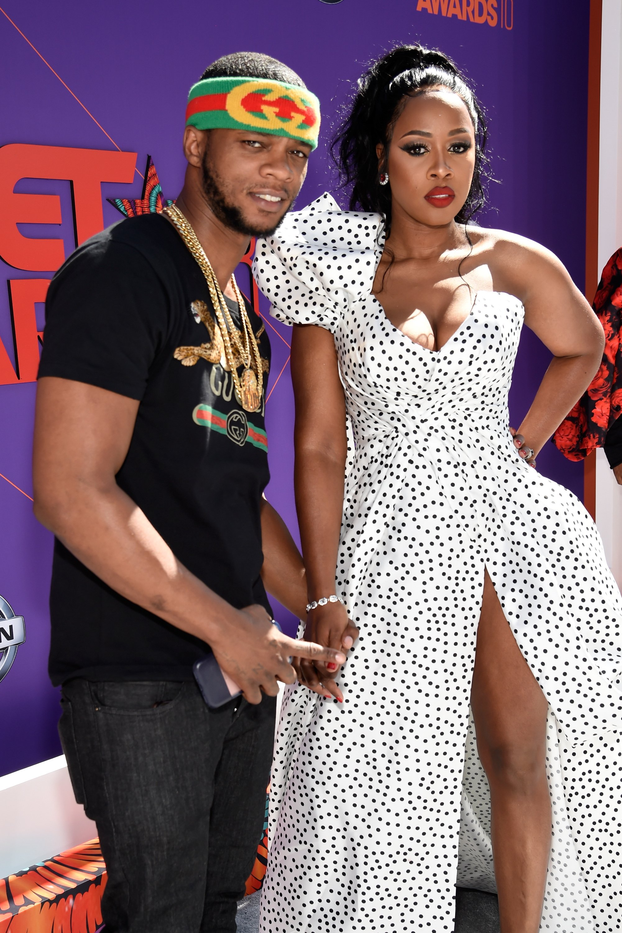 Papoose and Remy Ma at the red carpet of the 2018 BET Awards. | Photo: Getty Images