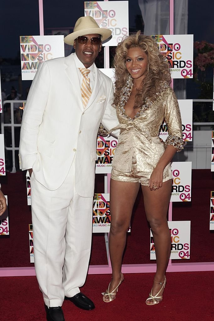 Jay-Z and Beyonce arrive at the 2004 MTV Video Music Awards. | Photo: GettyImages