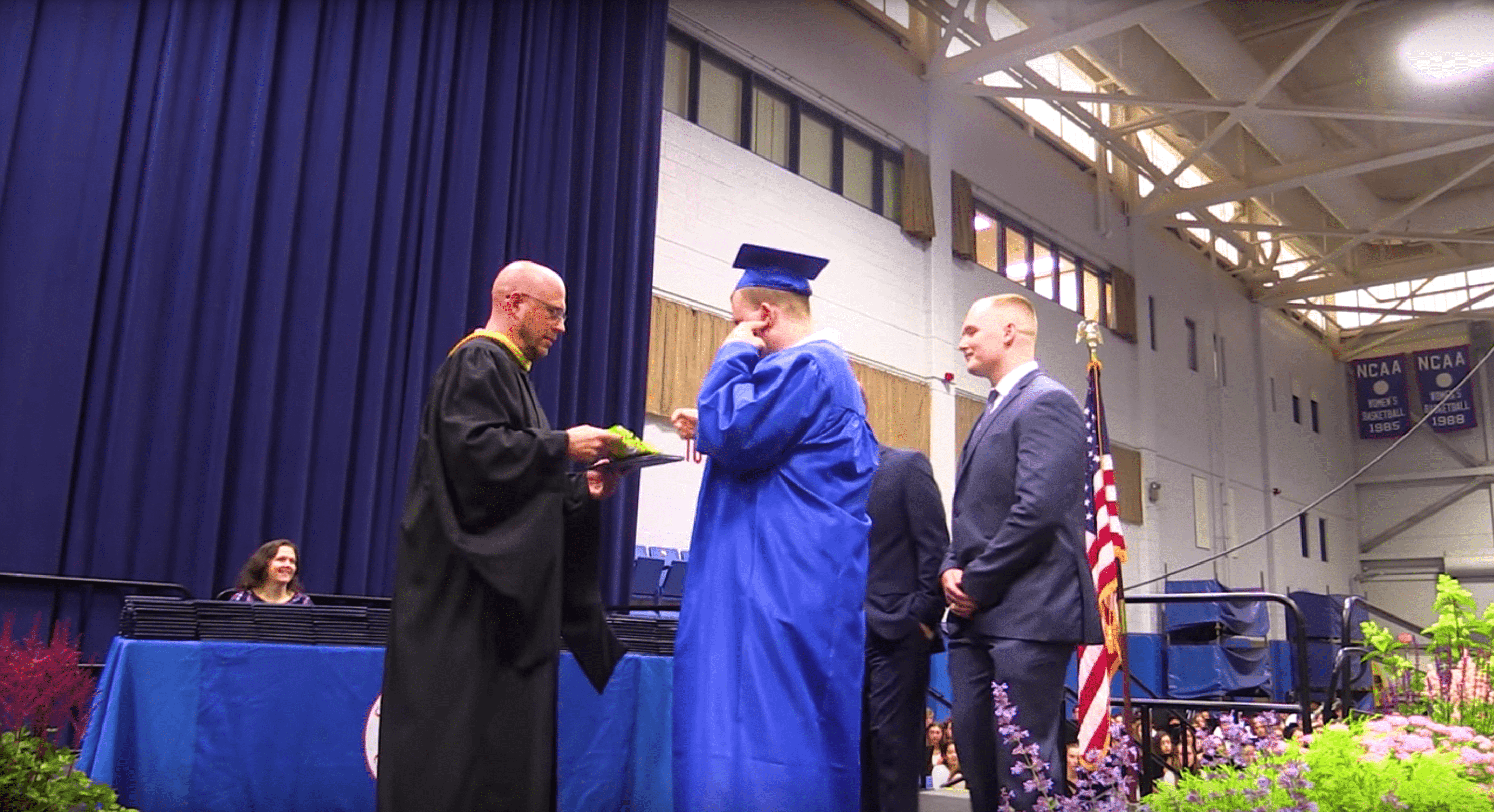 Jack Higgins receiving his certificate during the graduation ceremony. | Source: YouTube:  RaneyDayMedia