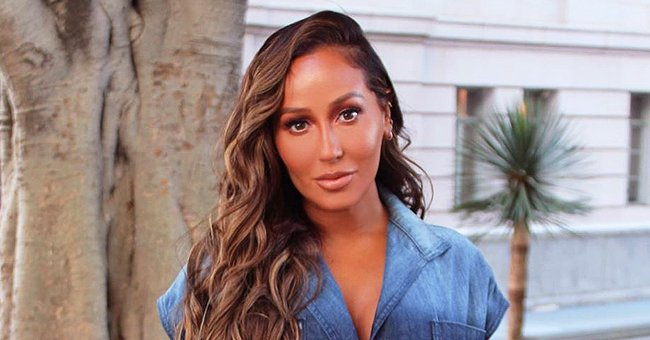'The Real' Co-Host Adrienne Bailon Flaunts Her Hourglass Figure in a Floral Swimsuit (Photo)