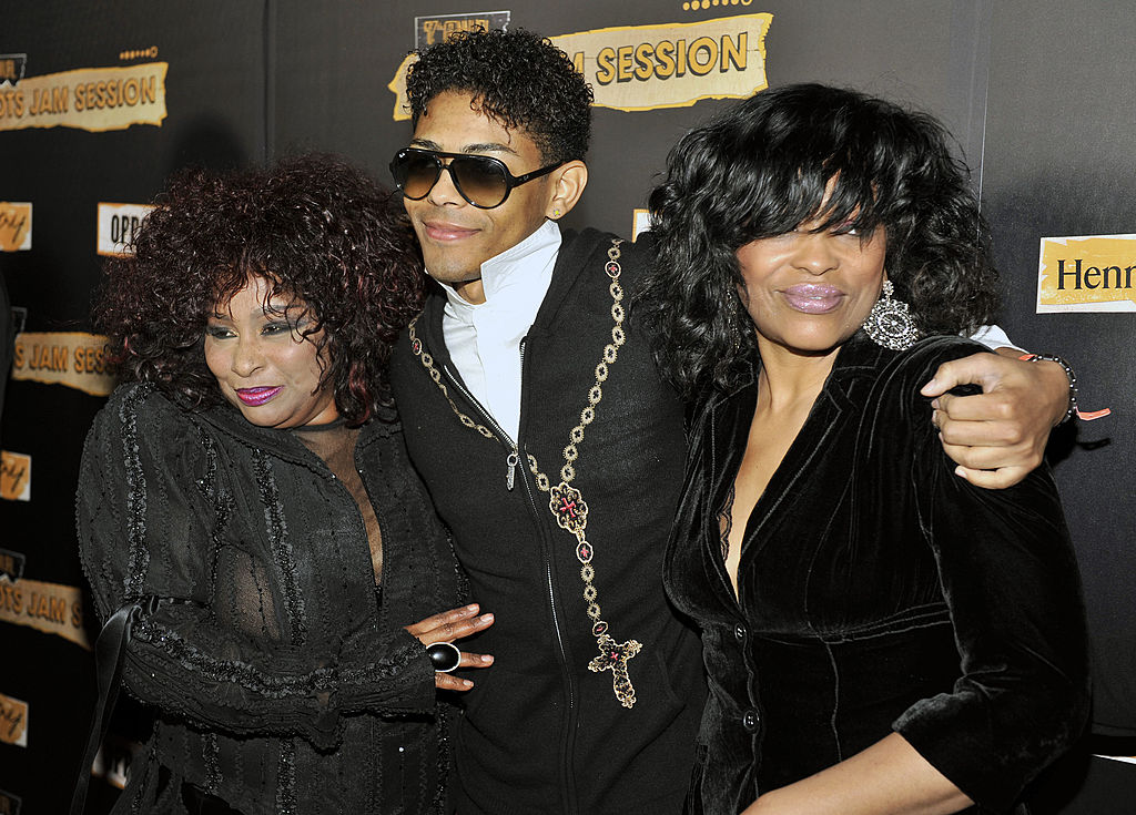 Mickey Howard, Brandon Howard, Chaka Khan. Image Credit: Getty Images