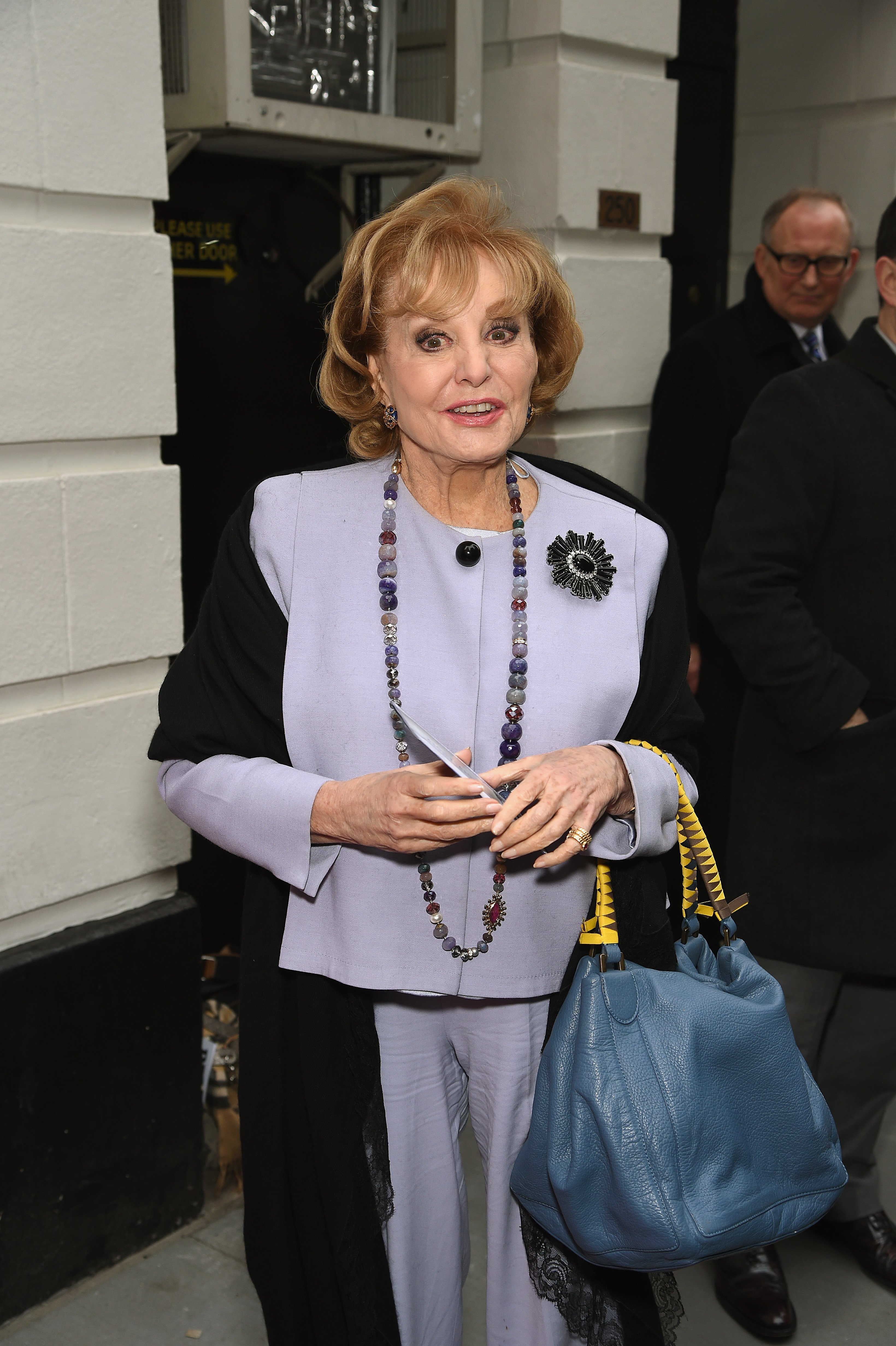 """Barbara Walters attends the """"Gigi"""" Broadway Opening Night at Neil Simon Theatre on April 8, 2015, in New York City. 