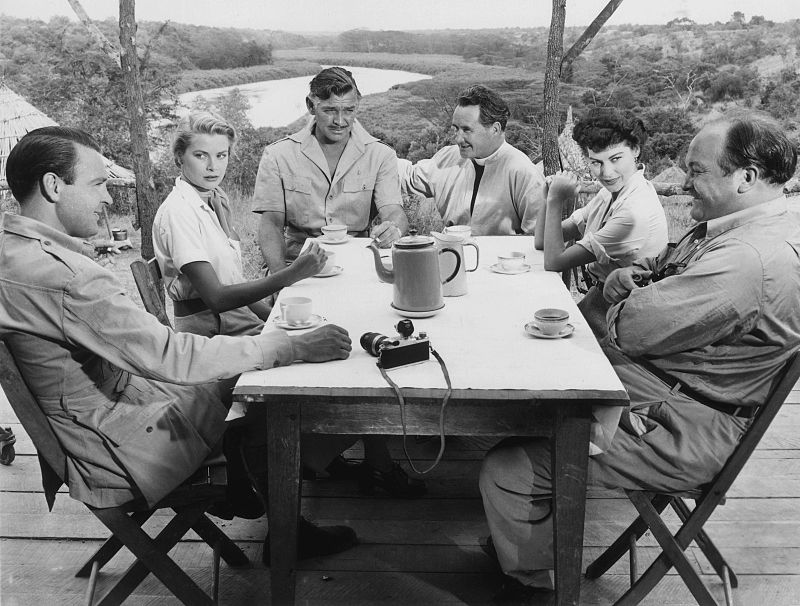 "The cast of ""Mogambo"" including Grace Kelly, Clark Gable and Ava Gardner 