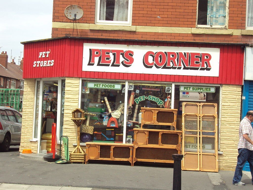 A pet store front | Source: Wikimedia Commons