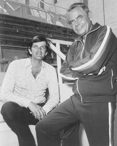 Glenn Ford et Peter Ford.   Getty Images.