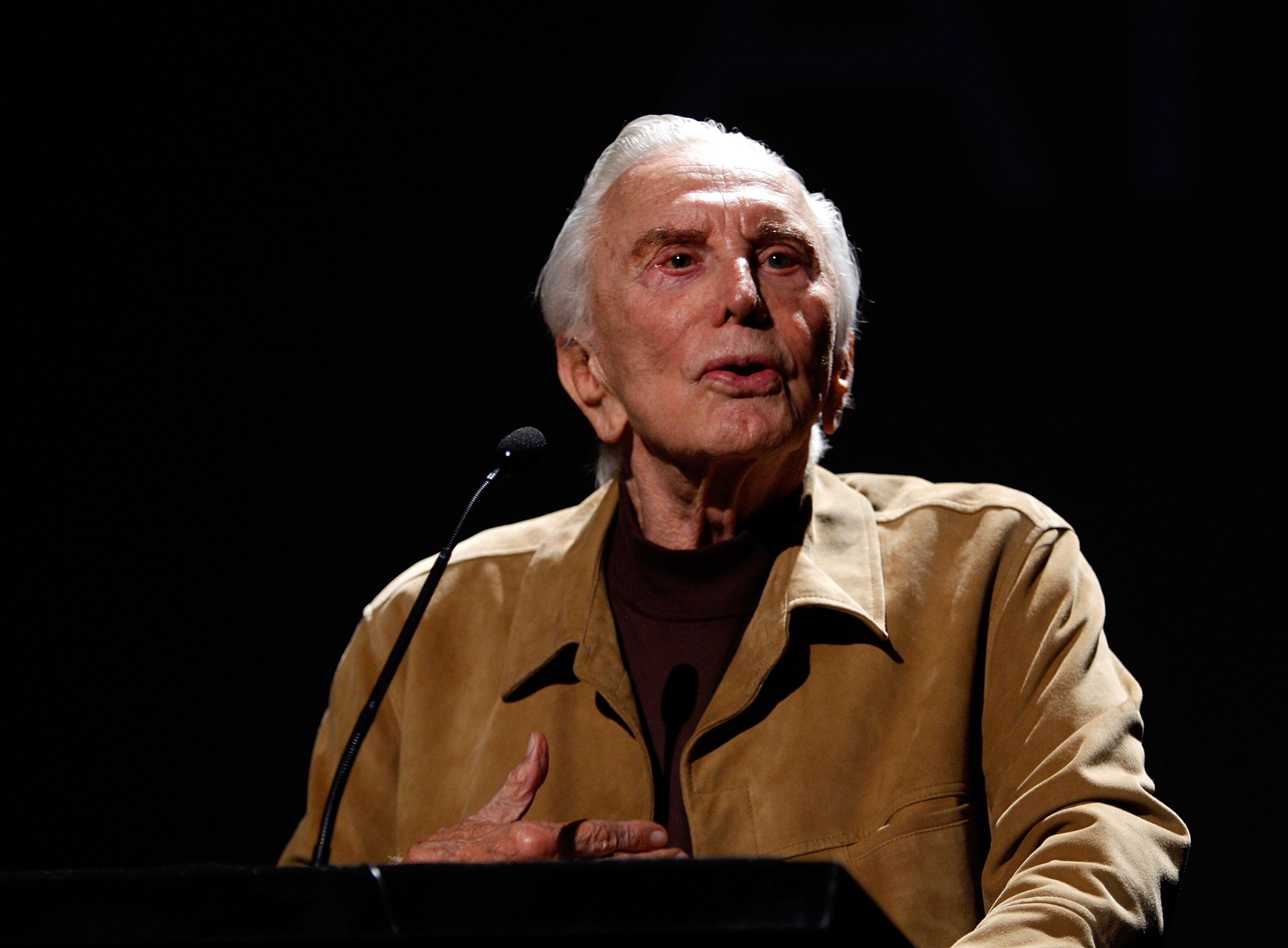 "Kirk Douglas presents the film ""Spartacus"" at AFI's 40th Anniversary celebration presented by Target held at Arclight Cinemas on October 3, 2007 