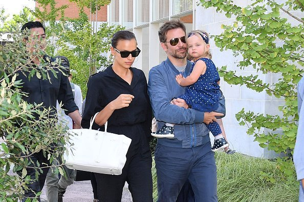 Bradley Cooper, Irina Shayk and their daughter Lea arriving at the 75th Venice Film Festival