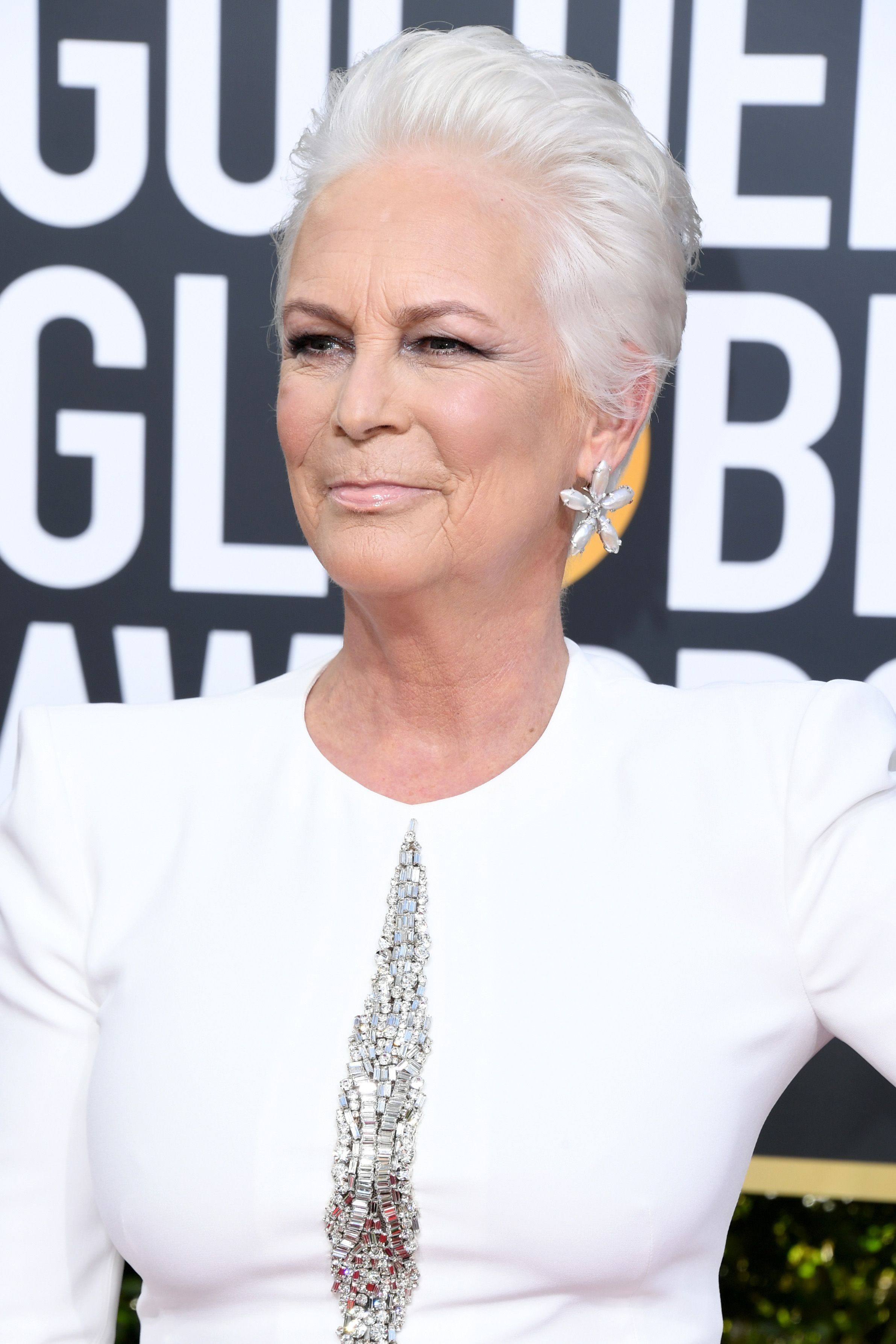 Jamie Lee Curtis at the Golden Globe Awards at The Beverly Hilton Hotel on January 6, 2019   Photo: Getty Images