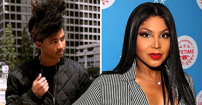 Toni Braxton's Handsome Son Diezel Goes Shirtless While Posing in a Black Denim Jacket (Photo)