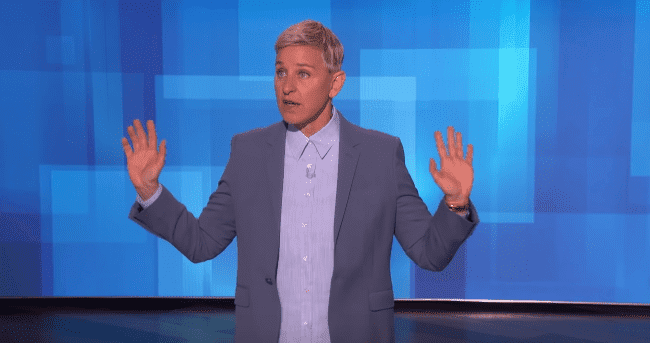 Ellen DeGeneres shares her view on the incident between two passengers onboard an American Airline flight on February 19,2020. | Source: YouTube/TheEllenShow