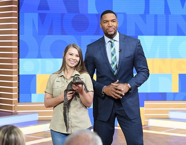 "Bindi Irwin on set of ""Good Morning America,"" airing on the Walt Disney Television 