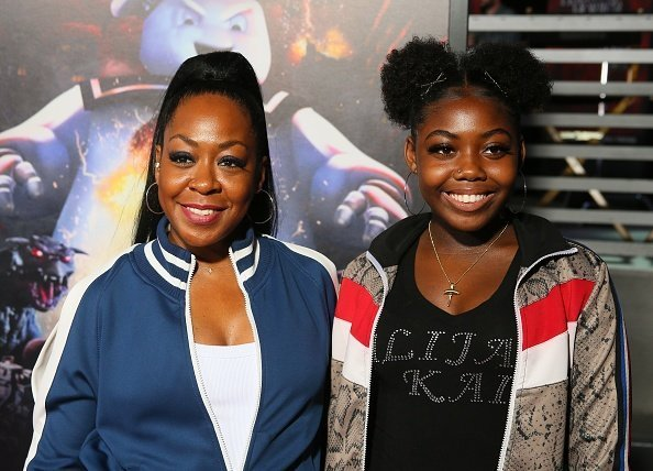 Tichina Arnold and Alijah Kai Haggin attend the opening night of Universal Studios' Halloween Horror Nights held at Universal Studios Hollywood | Photo: Getty Images