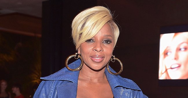 Mary J Blige Has on Smokey Makeup as She Bundles up in a Fur Coat with Matching Bonnet (Photo)